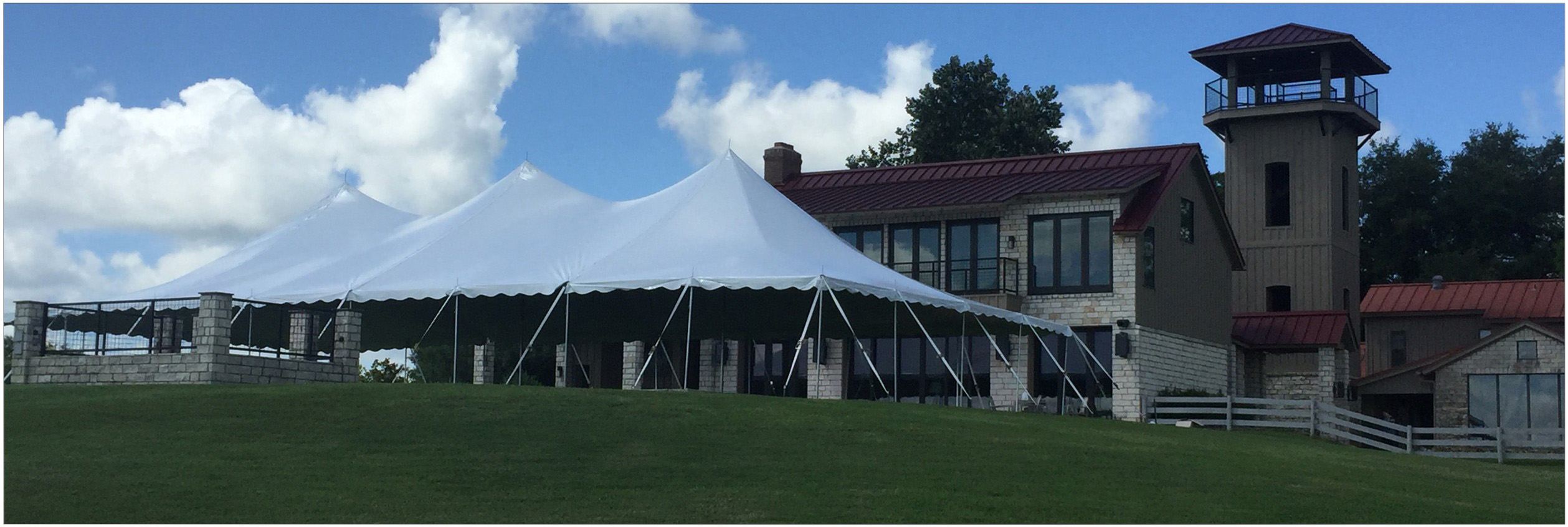 high peaked wedding tents